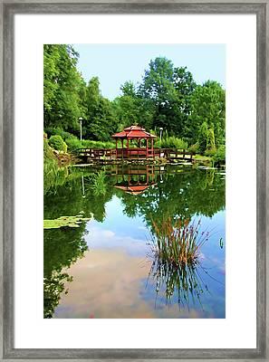 Serene Garden Framed Print