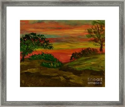 Serene Hillside II Framed Print by Marie Bulger