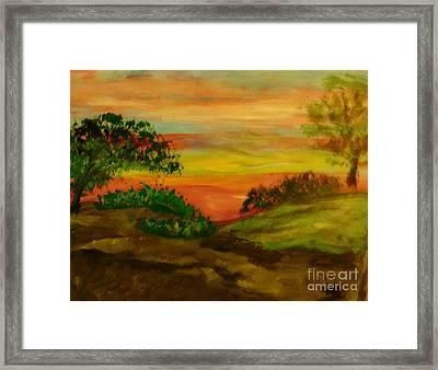 Serene Hillside I Framed Print by Marie Bulger