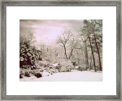 Framed Print featuring the photograph Serene In Snow by Jessica Jenney