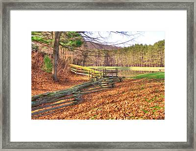 Framed Print featuring the photograph Serene Lake by Gordon Elwell