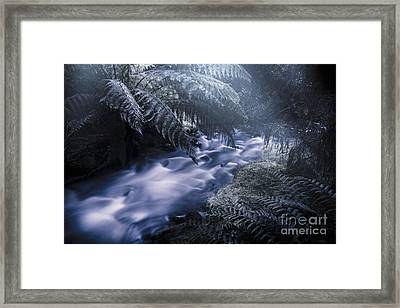 Serene Moonlit River Framed Print