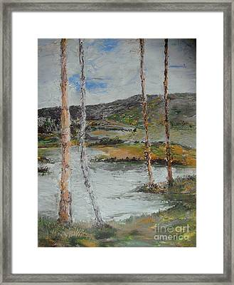 Framed Print featuring the painting Serene Quiteness by Rushan Ruzaick