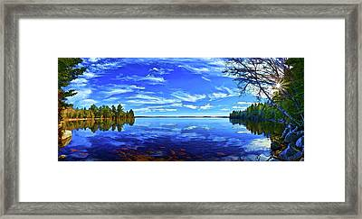 Serene Reflections Framed Print