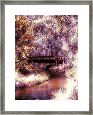 Serene River Bridge Framed Print