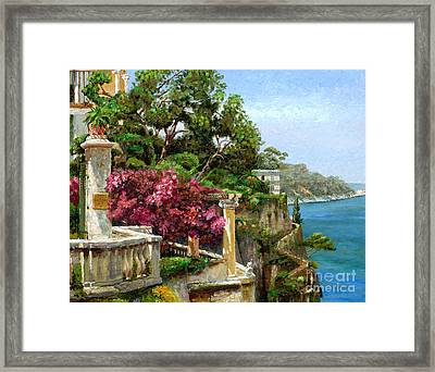 Serene Sorrento Framed Print by Trevor Neal
