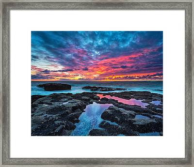 Serene Sunset 16x20 Framed Print by Robert Bynum