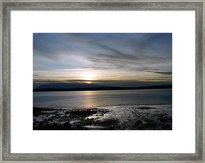 Serene Sunset Framed Print by Jaeda DeWalt