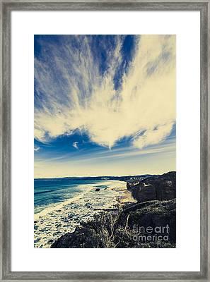 Serene Victoria Coastline Framed Print