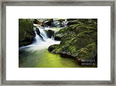 Serene Waterfall Framed Print