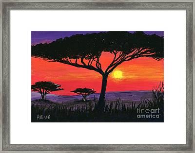 Kalahari  Framed Print