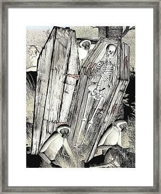 Framed Print featuring the digital art Serengeti Scavengers by Maynard Ellis