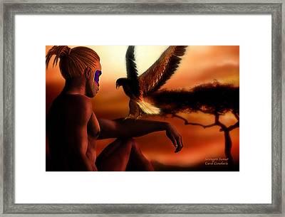 Serengeti Sunset Framed Print by Carol Cavalaris