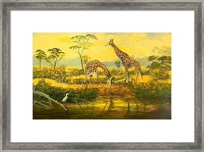 Serengetti Sunrise Framed Print