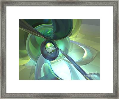Serenity Achieved Abstract Framed Print by Alexander Butler