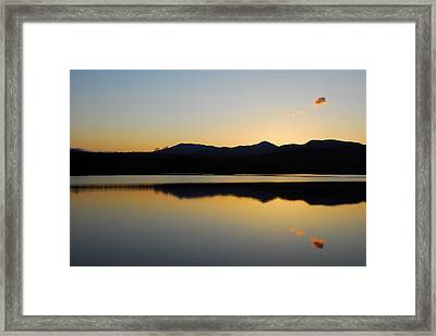 Serenity At Blue Lake Framed Print