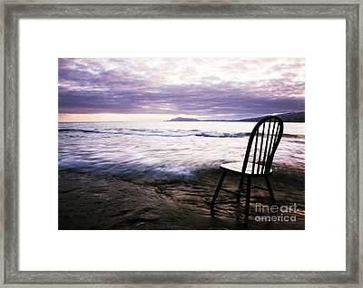 Serenity At Portlock Framed Print by Charmian Vistaunet