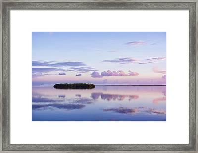 Serenity At Sunrise Framed Print