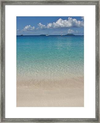 Serenity At Trunk Bay  Framed Print by Margaret Bobb