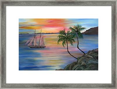 Serenity Bay Framed Print by Mikki Alhart
