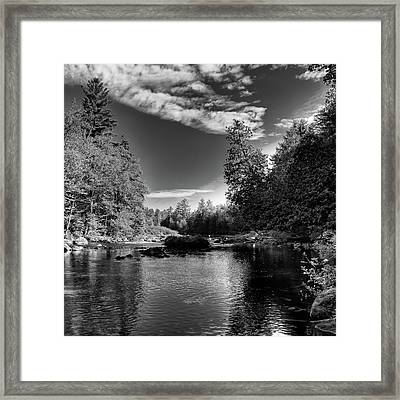 Serenity Below Buttermilk Falls Framed Print by David Patterson