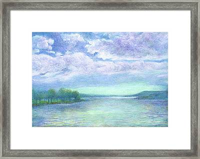Serenity Blue Lake Framed Print
