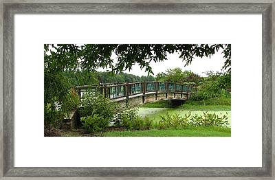 Framed Print featuring the photograph Serenity Bridge by David Dunham