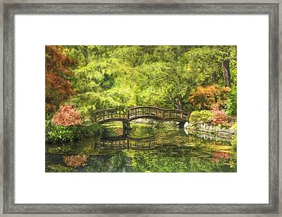 Serenity Bridge Framed Print