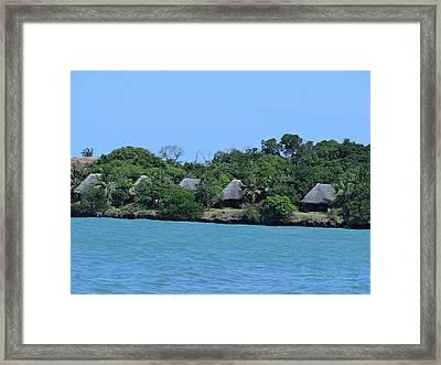 Serenity - Chale Island Kenya Africa Framed Print
