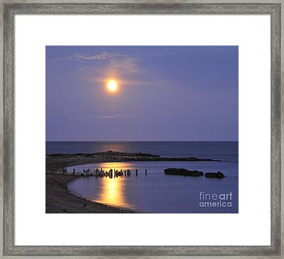 Framed Print featuring the photograph Serenity Connecticut Coastline by Cindy Lee Longhini