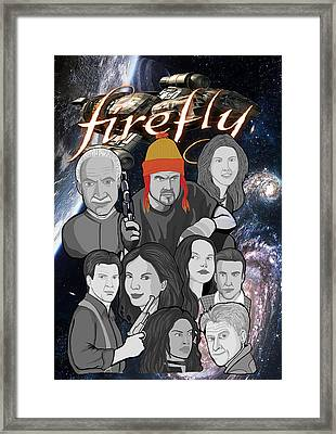 Serenity Firefly Crew Framed Print by Gary Niles
