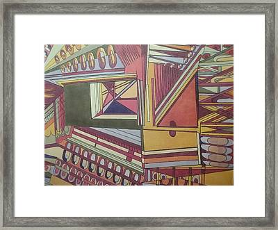 Serenity II Framed Print by Modern Metro Patterns and Textiles