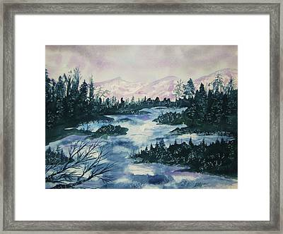 Framed Print featuring the painting Serenity IIi by Ellen Levinson