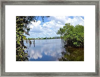 Framed Print featuring the photograph Serenity In Matlacha Florida by Timothy Lowry