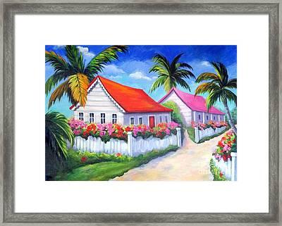Serenity In Paradise Framed Print