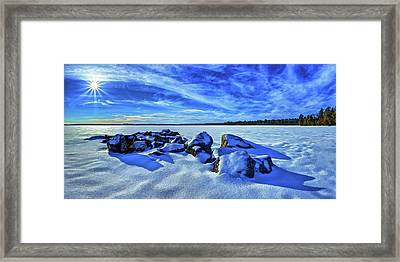 Serenity In Snow Framed Print by ABeautifulSky Photography