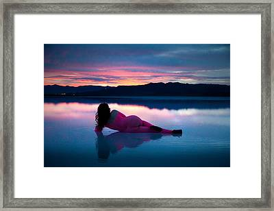 Framed Print featuring the photograph Serenity Lake by Dario Infini
