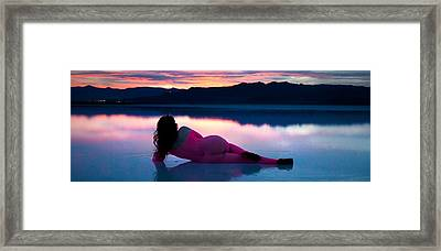 Framed Print featuring the photograph Serenity Lake Wide by Dario Infini