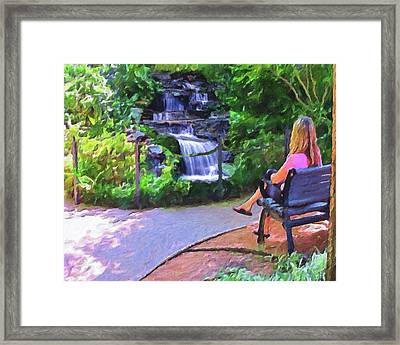A Moment Of Serenity Framed Print by Le Artman