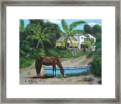 Serenity Framed Print by Luis F Rodriguez