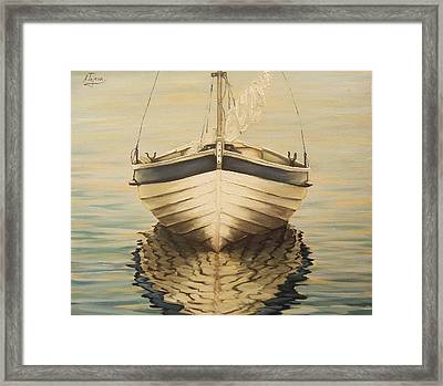 Framed Print featuring the painting Serenity by Natalia Tejera