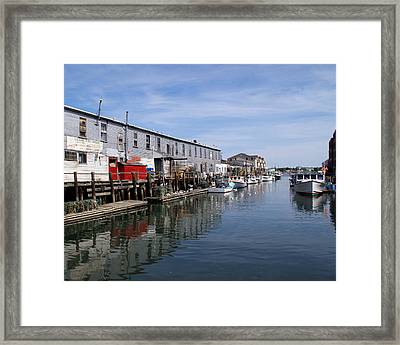 Framed Print featuring the photograph Serenity Of The Harbor by Lynda Lehmann