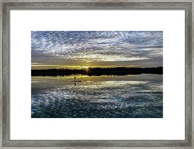 Serenity On A Paddleboard Framed Print