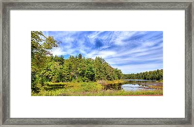 Framed Print featuring the photograph Serenity On Bald Mountain Pond by David Patterson