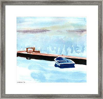 Serenity On The Lake Framed Print by Kerry Hartjen