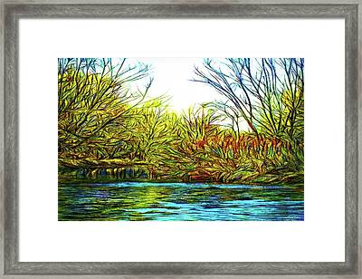 Serenity On The River Framed Print