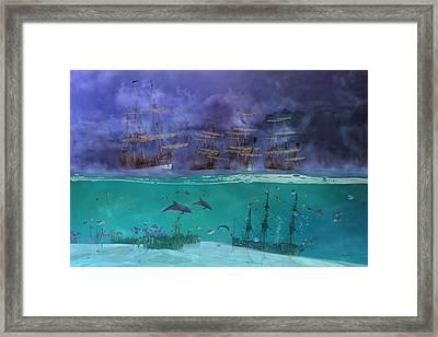 Serenity Point Framed Print by Betsy Knapp