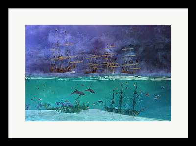Puffer Mixed Media Framed Prints
