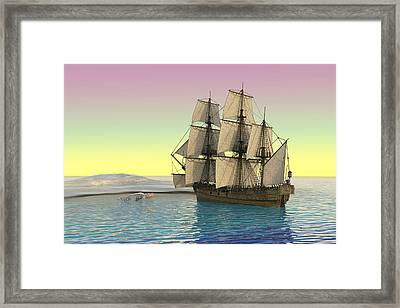 Serenity Point Captured Framed Print by Betsy Knapp