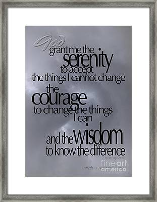 Serenity Prayer 05 Framed Print by Vicki Ferrari
